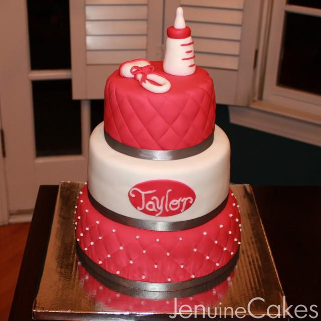 0 Glamorous Baby Shower Cake 1