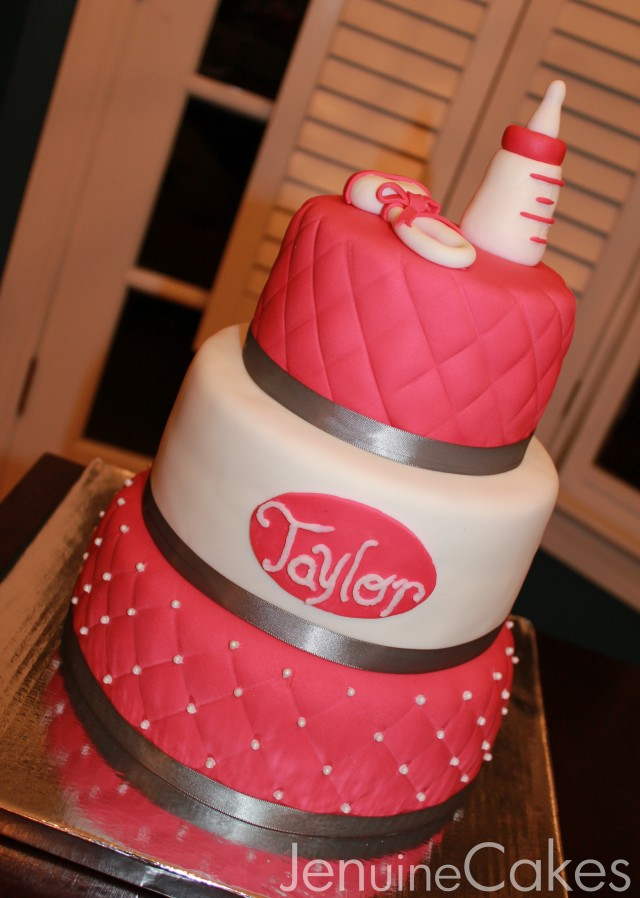0 Glamorous Baby Shower Cake 2