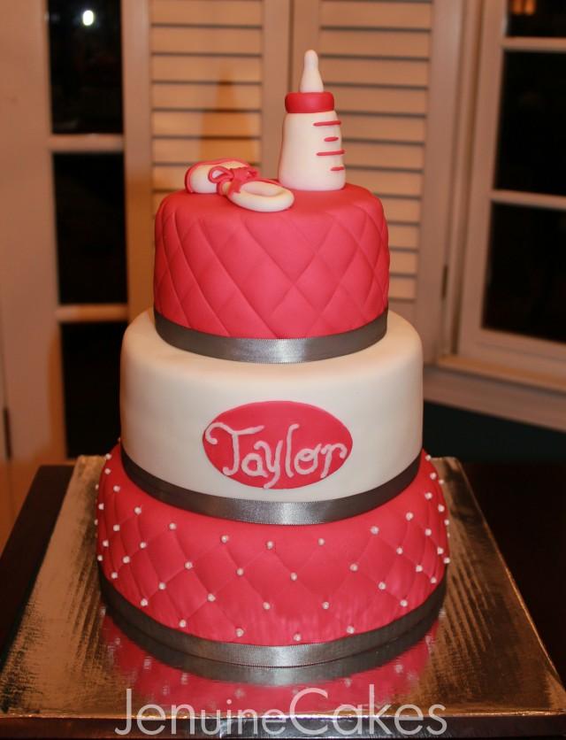 0 Glamorous Baby Shower Cake 3