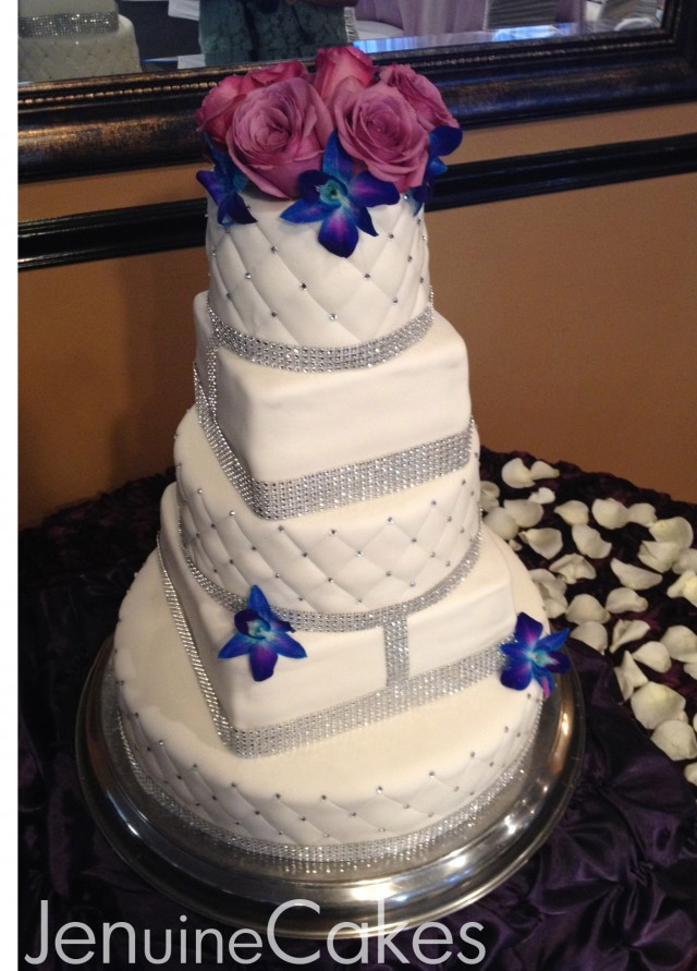 0 Glitz and Glam Wedding Cake 6