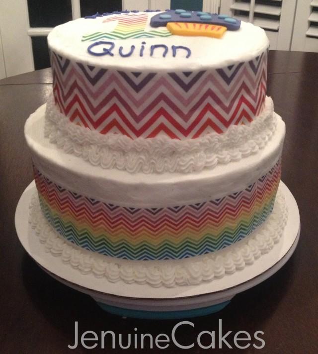 0 Rainbow Muffin Birthday Cake 2
