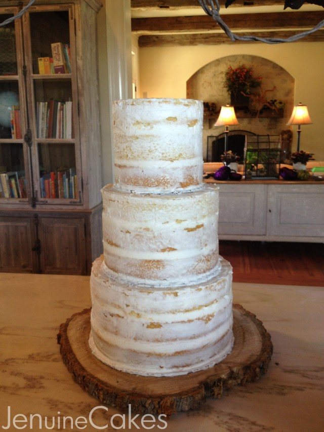 0 Rustic Naked Wedding Cake 2