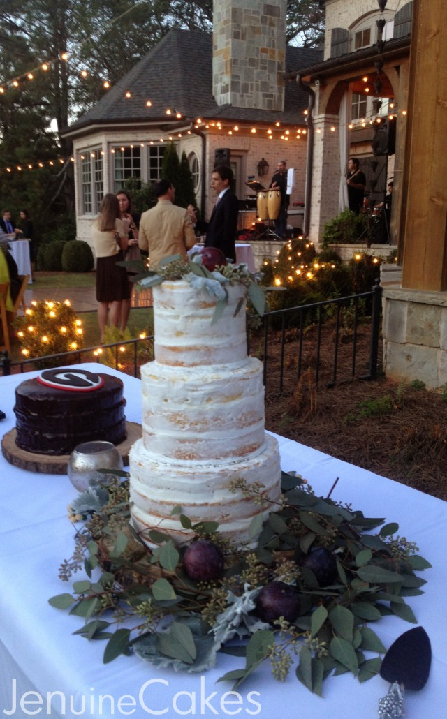 0 Rustic Naked Wedding Cake 3