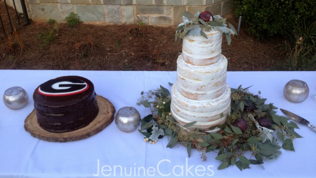 0 Rustic Naked Wedding Cake 4