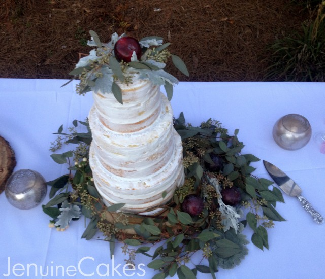 0 Rustic Naked Wedding Cake 6