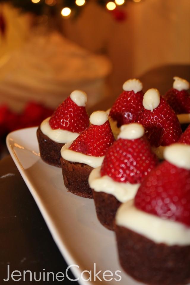 0 Santa Hat Brownies 3