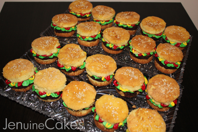 Burger Cupcakes For Super Bowl Jenuine Cakes