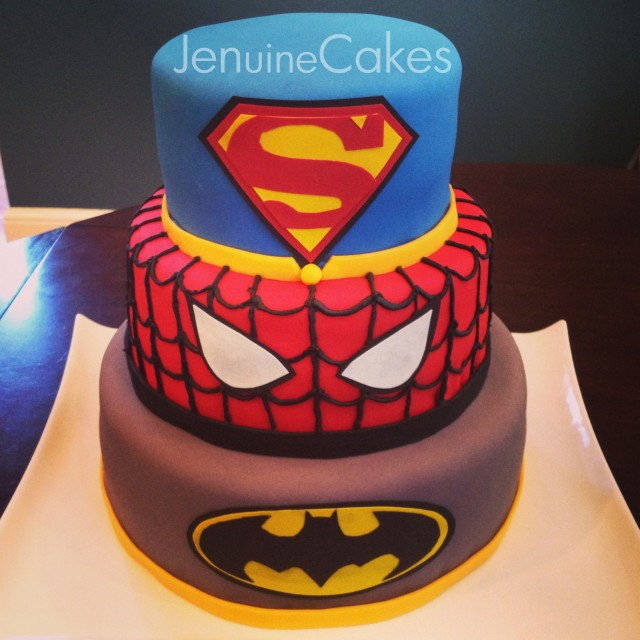 0 Superhero Cake 1