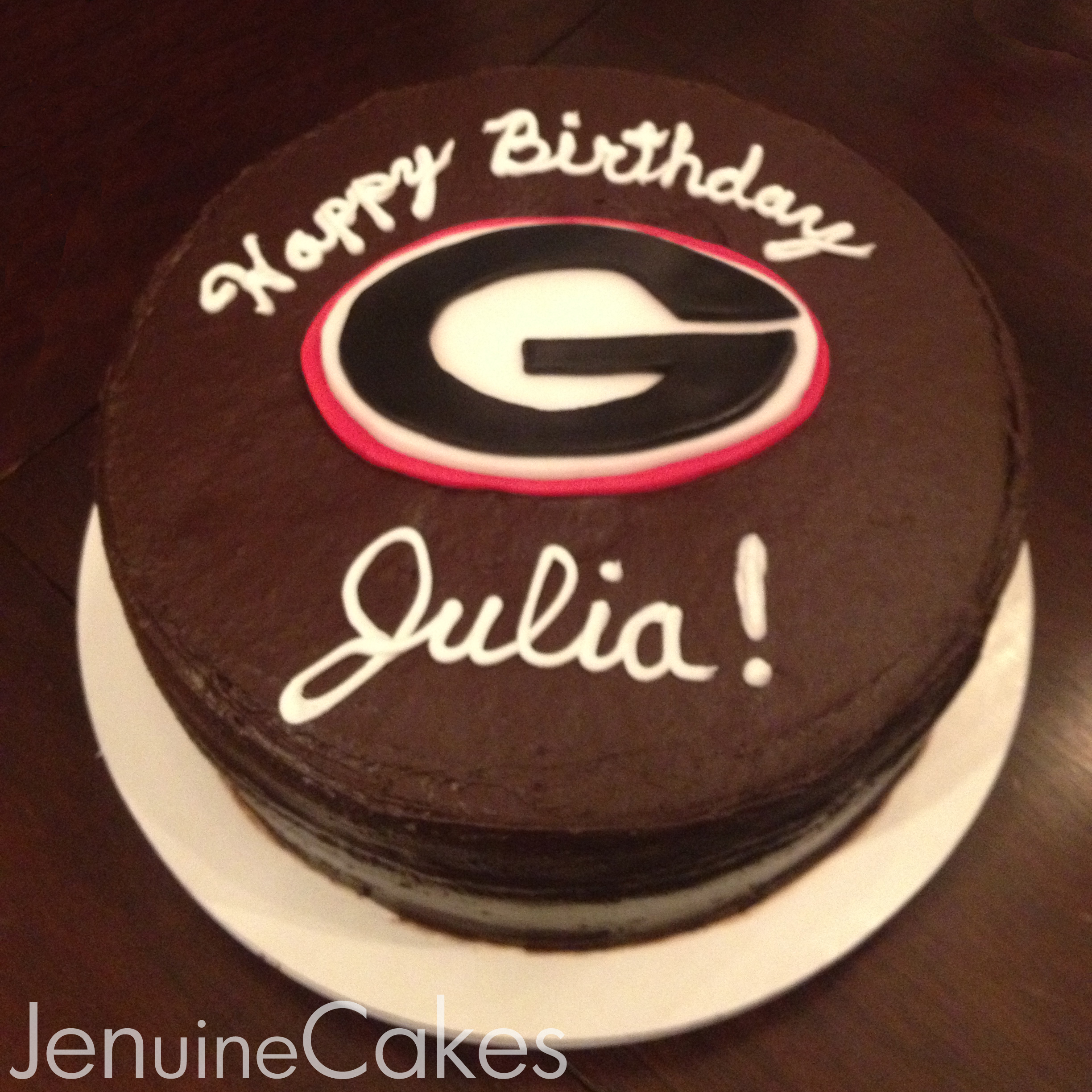 0 UGA Birthday Cake 1