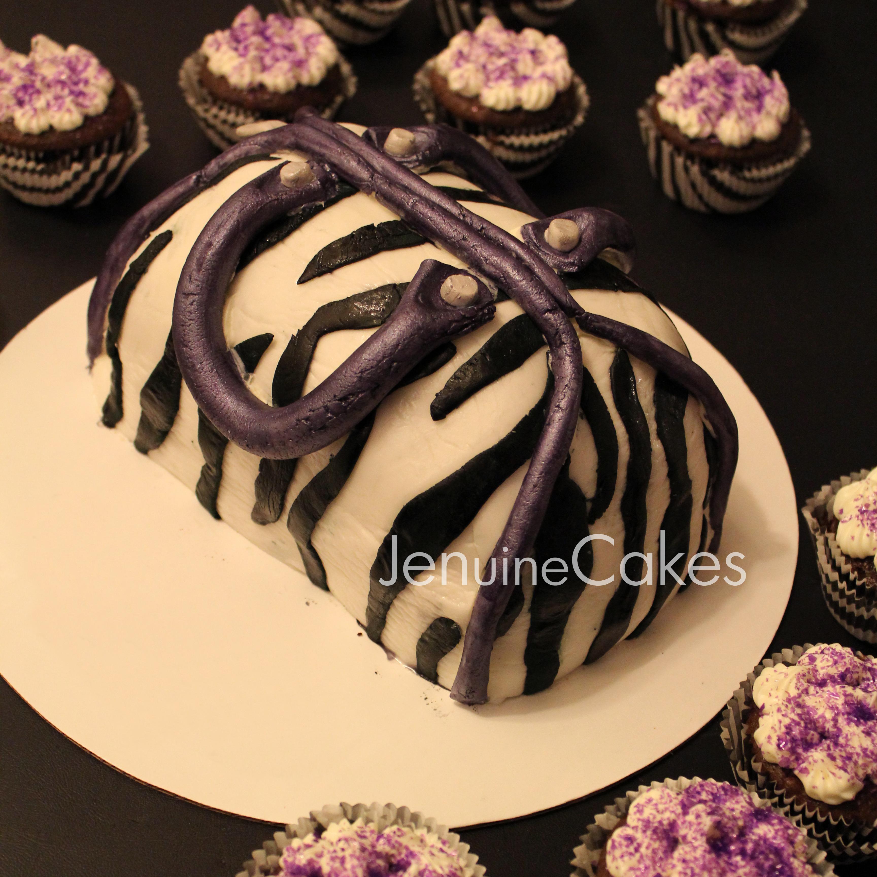 1 Zebra Print Purse Cake2
