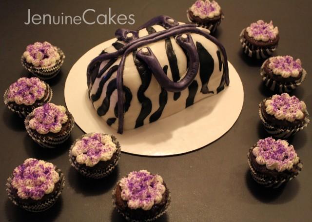2 Zebra Print Purse Cake2