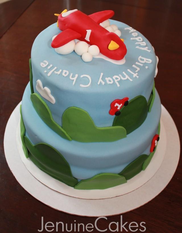 Airplane Birthday Cake 3