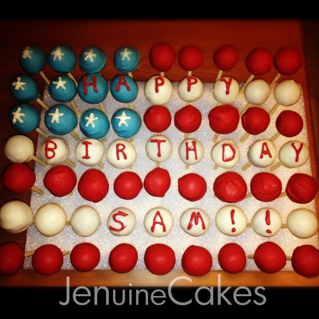 American Flag Cake Pops 1