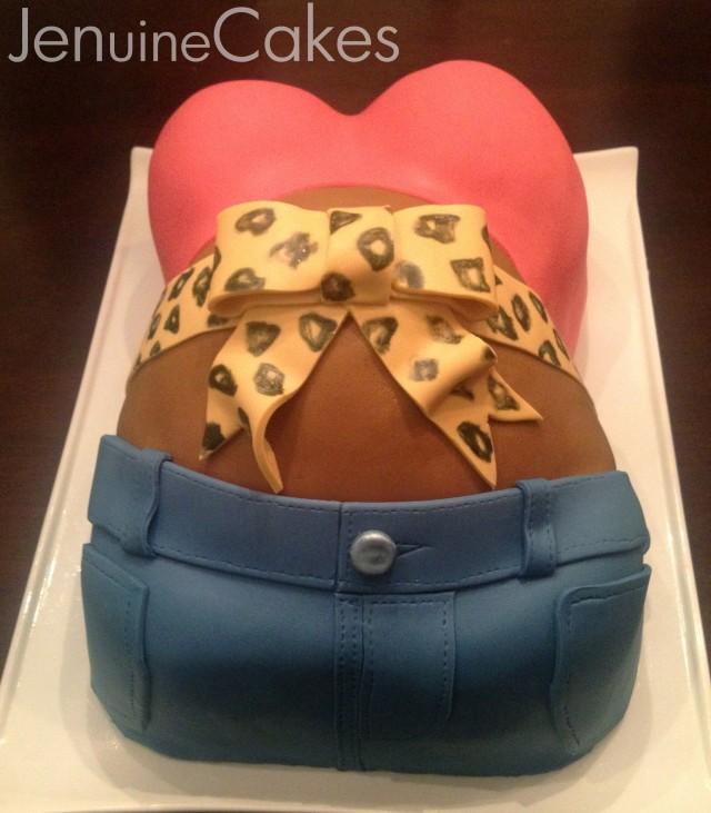 Baby Bump Baby Shower Cake 3