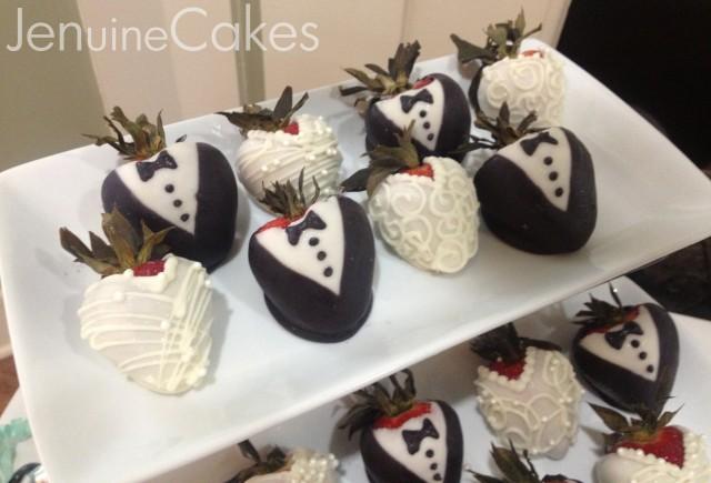 Bride And Groom Chocolate Strawberries 3