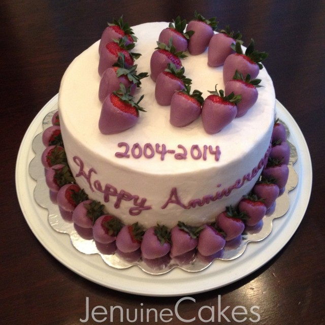 Chocolate Strawberries Anniversary Cake 1