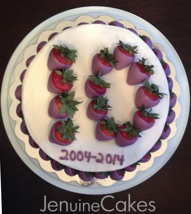 Chocolate Strawberries Anniversary Cake 2