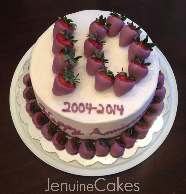 Chocolate Strawberries Anniversary Cake 3