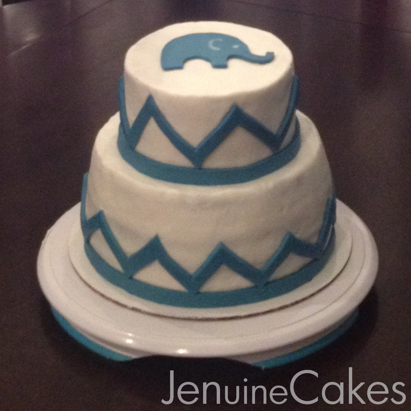 Elephant Baby Shower Cake 1