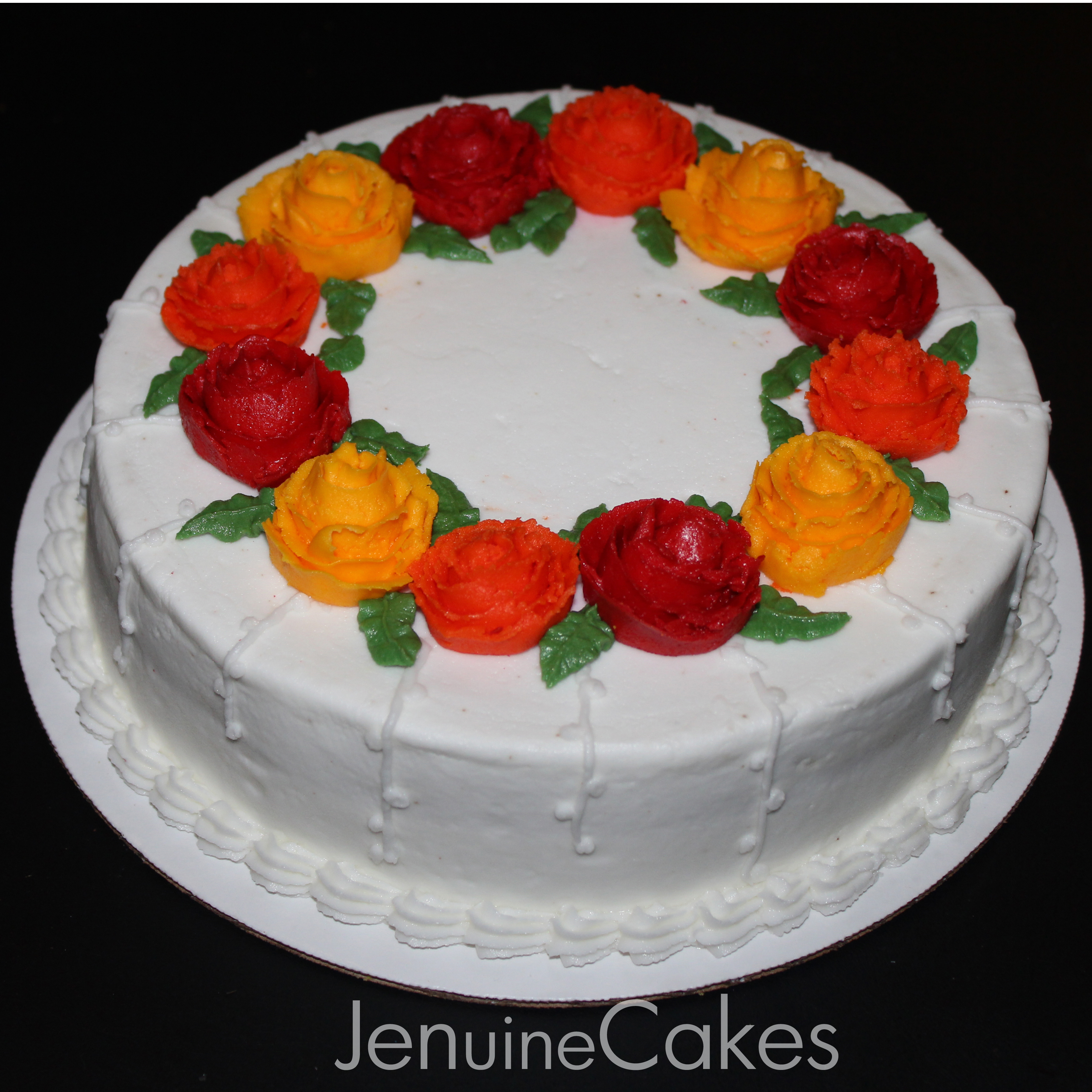 Fall Floral Cake 1