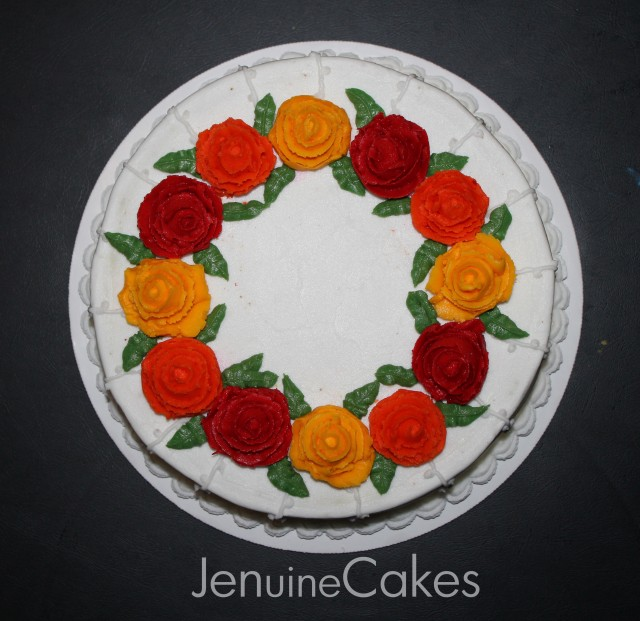 Fall Floral Cake 2