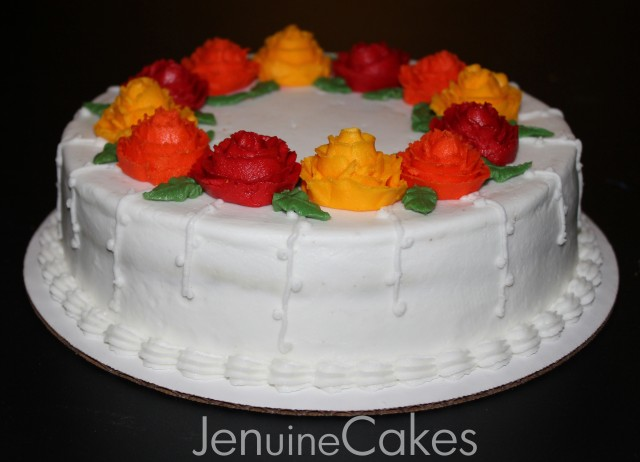 Fall Floral Cake 3