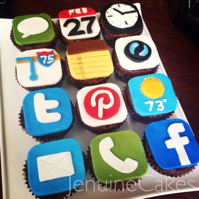 Iphone Cupcake Toppers Jenuine Cakes